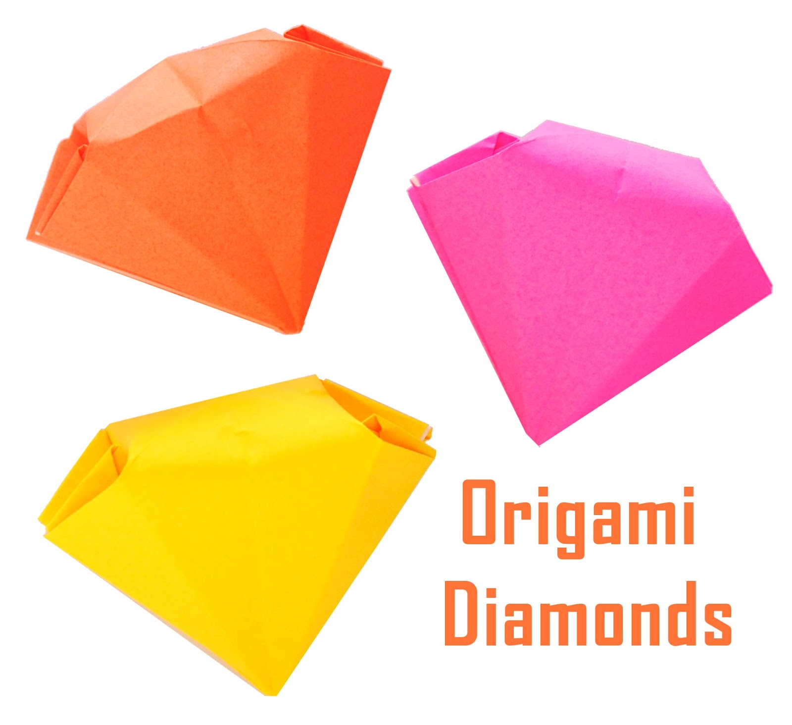 zakka life how to fold origami diamonds