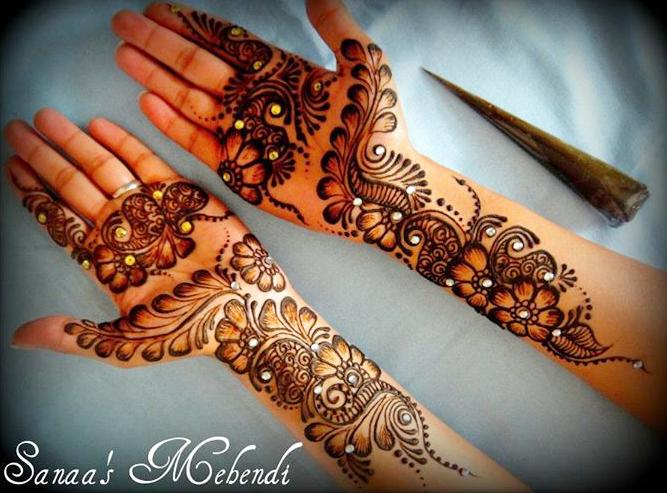 Mehndi Designs Churidar : Dresses collection mehndi design