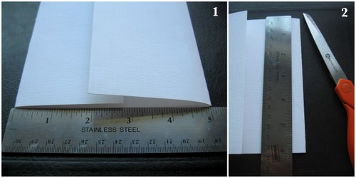 Step 2 Cut The Paper Vertically To 6 You Can Make It Longer If Are Using A Large Envelope