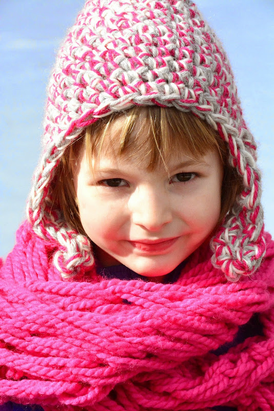 Aesthetic nest crochet triple strand earflap hats for the family pair it with an arm knit infinity cowl or a matching crochet scarf you could gift it as a set with an easy baby afghan too the afghan calls for a bulky dt1010fo