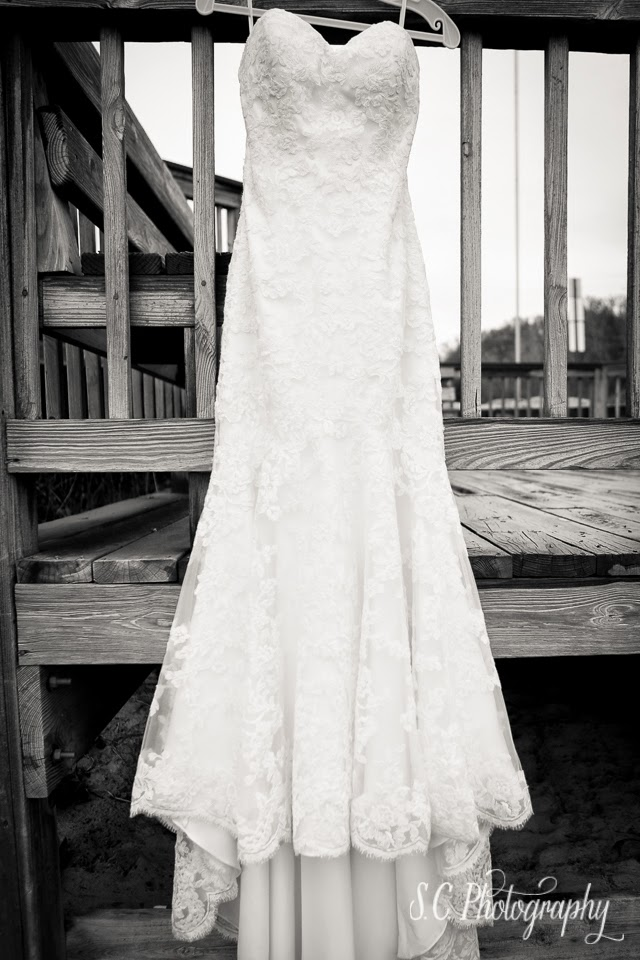 Lace wedding dress beachy