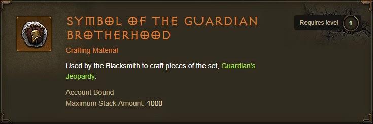 Tazeon Diablo 3 Blog Farming Symbol Of The Guardian For
