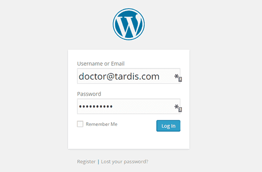 Cara login menggunakan Email pada WordPress.