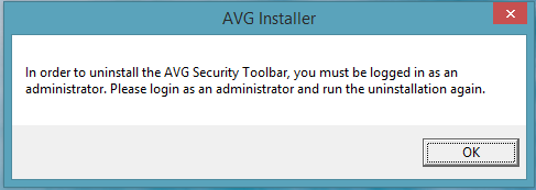 How to uninstall AVG secure search toolbar