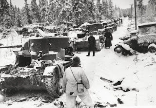 Tanks in the snow, 1940
