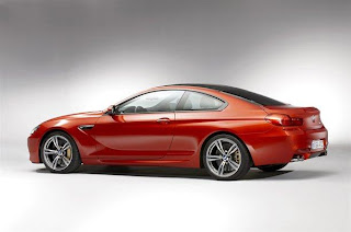 NEW BMW M6 RED SIDE VIEW