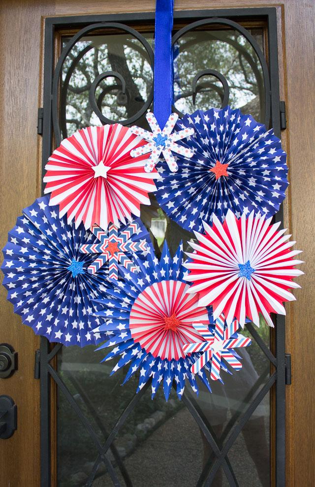 4th Of July Wreath Design Improvised
