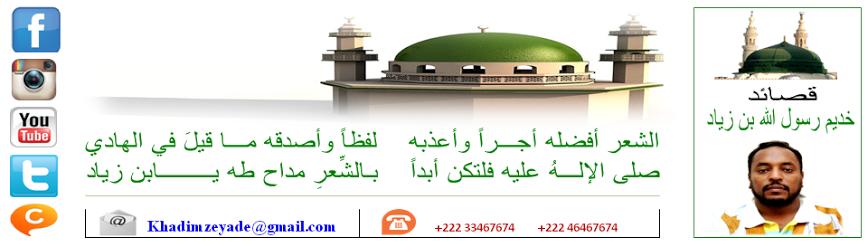 الآن تصفح الموقــع الرسمي الخاص بالشاعر الموريتــاني خديم رسول الله بن زيـــاد