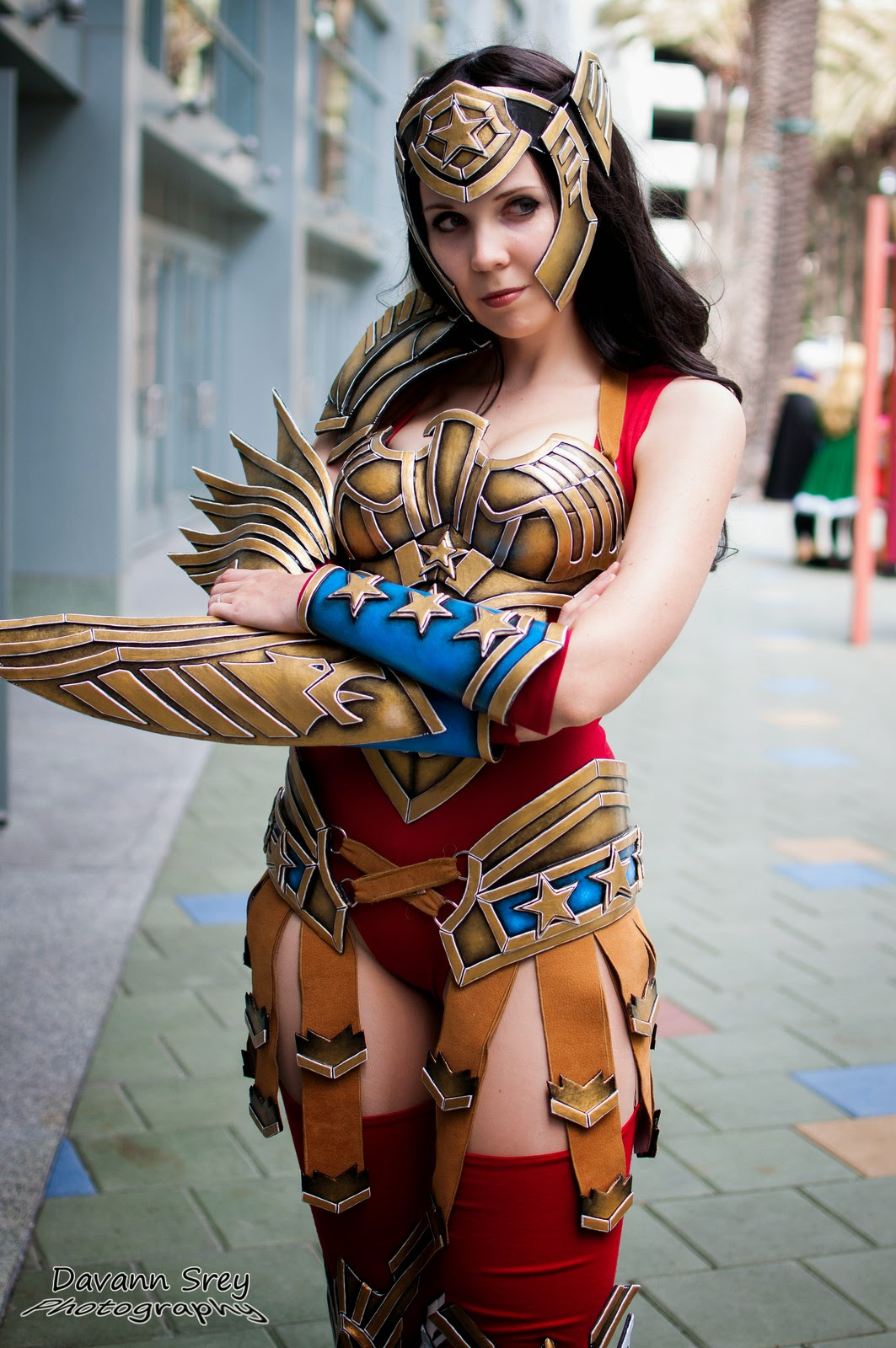 photo de cosplay de la wondercon 2014 d'une wonder woman guerrière