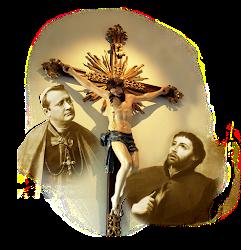 São Guido, Xavier e o Crucificado