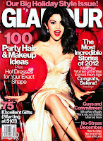 Selena Gomez in a hot dress on the cover of Glamour magazine december 2012 issue