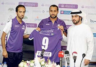 3 مقاطع لابداع اللاعب ياسر القحطاني في مباراة عجمان وتتويجه مع العين الاماراتي 26-5-2012