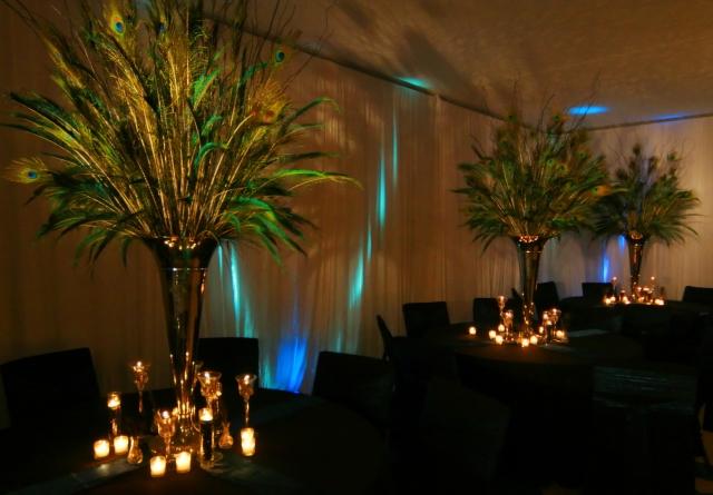 Bashert weddings non flower centerpieces