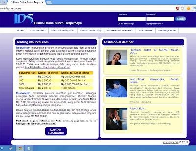 Idsurvei.com, Bisnis Online Survei TIdsurvei.com, Bisnis Online Survei Terpercaya, Survei Dibayar Rp 2.000 dengan Sekali Mengisi Surveierpercaya, Survei Dibayar Rp 2.000 dengan Sekali Mengisi Survei