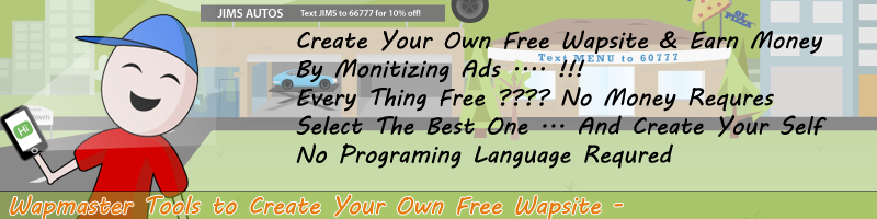 Wapmaster tools to create free wapsite