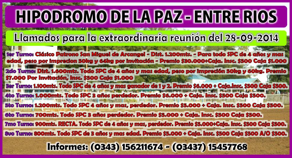LA PAZ - LLAMADO - 28.09.2014