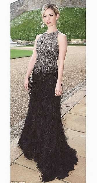 Lily James Windsor Castle