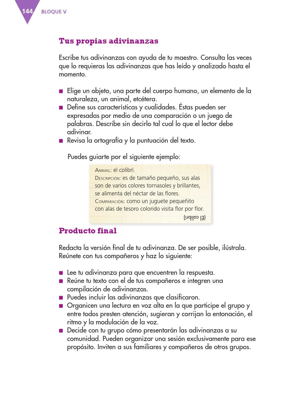 Compartir adivinanzas español 3ro bloque 5/2014-2015