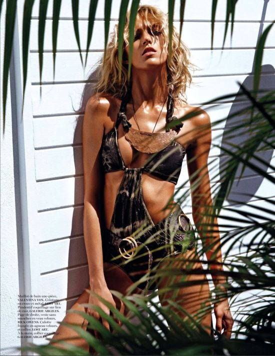 modelos Anja Rubik e Andreea Diaconou nuas revista Vogue Paris June July 2013 by Mario Sorrenti