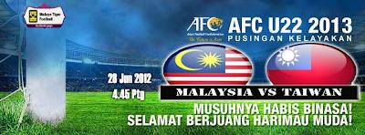 Malaysia Vs Taiwan 28 Jun 2012 | Kelayakan Piala Asia (AFC) B-22 2013
