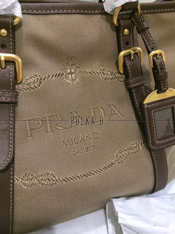 Prada Bauletto Logo Jacquard Top Handle Bag Bn2527
