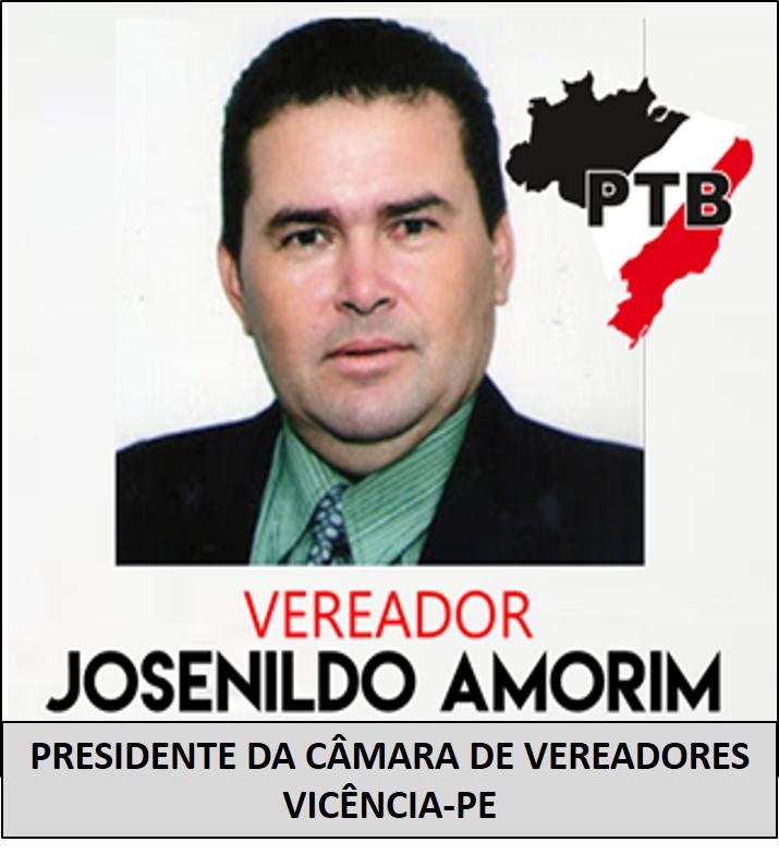 PRESIDENTE DA CÂMARA DE VEREADORES DE VICÊNCIA-PE