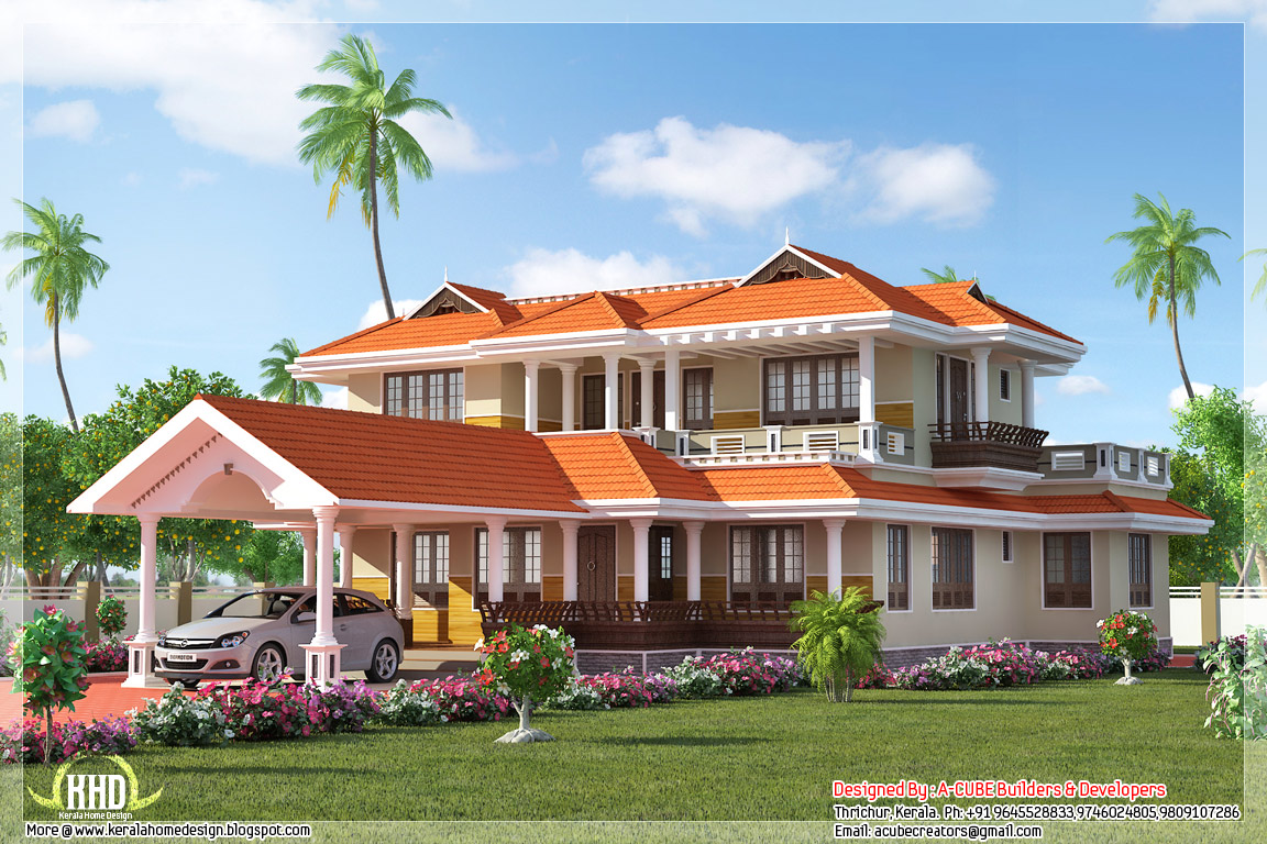 2847 kerala style home plan kerala home design for Kerala house photos