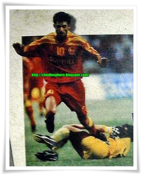 Perlawanan Akhir Piala Malaysia 1996: Selangor lawan Sabah.
