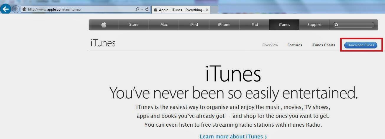 iTunes download site