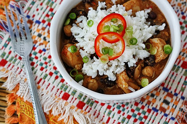 Slow Cooker Three Bean Salsa Chicken and Rice Recipe