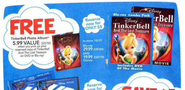 Toys R Us Dvd : Blu ray dvd exclusives tinker bell and the lost