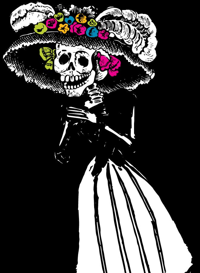 Dibujos para colorear del dia de los muertos
