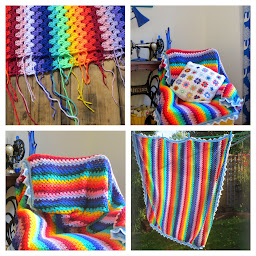 My Rainbow Bright Blanket