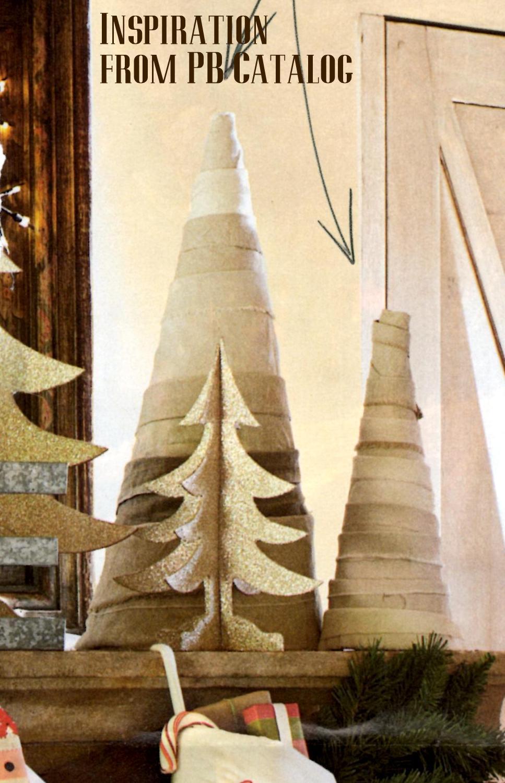 PB Shabby Fabric Christmas Tree