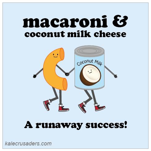 Macaroni & coconut milk cheese: a runaway succes, vegan mac and cheese, vegan macaroni and cheese