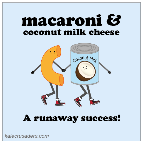Macaroni & coconut milk cheese: a runaway succes, vegan mac and cheese, vegan macaroni and cheese