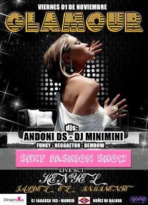 Discoteca Glamour viernes 1 noviembre