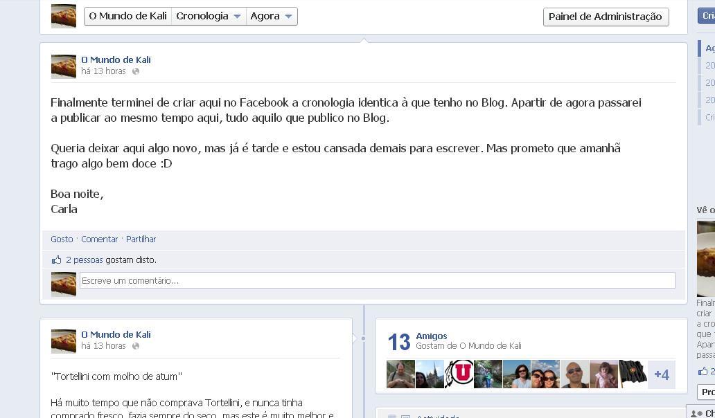 Agora no Facebook