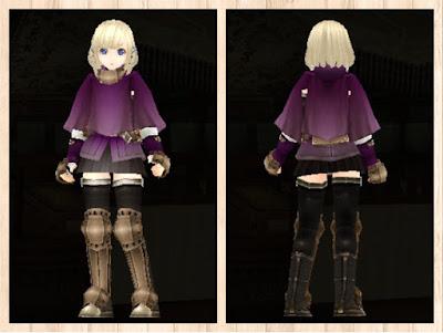 冒険者の服 紫1・重量化