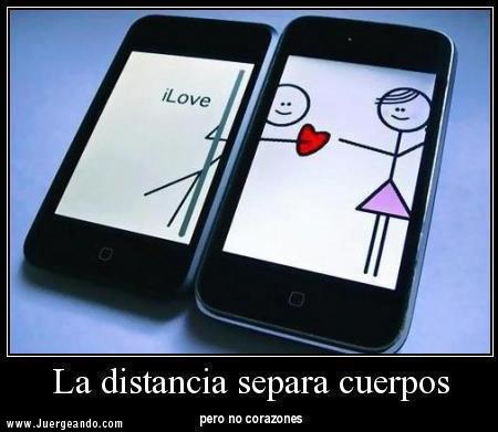 La distancia separa cuerpos pero no corazones