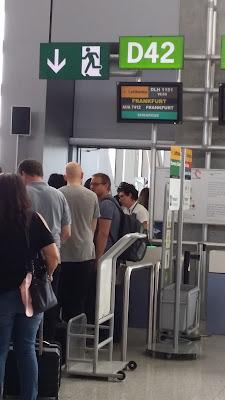 Puerta de embarque en el aeropuerto de Málaga