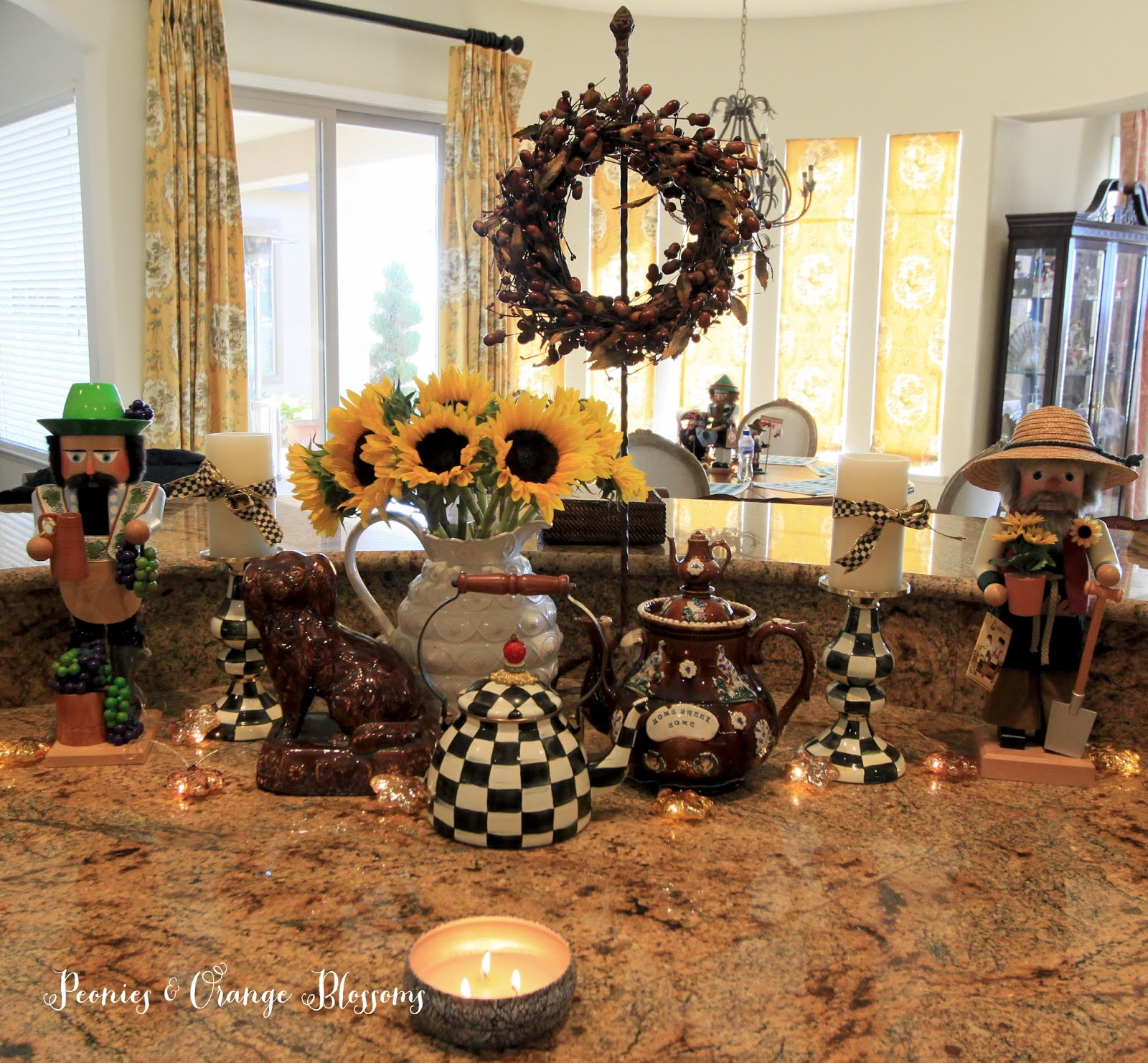 how to decorate for fall peeinn com peonies and orange blossoms august 2015