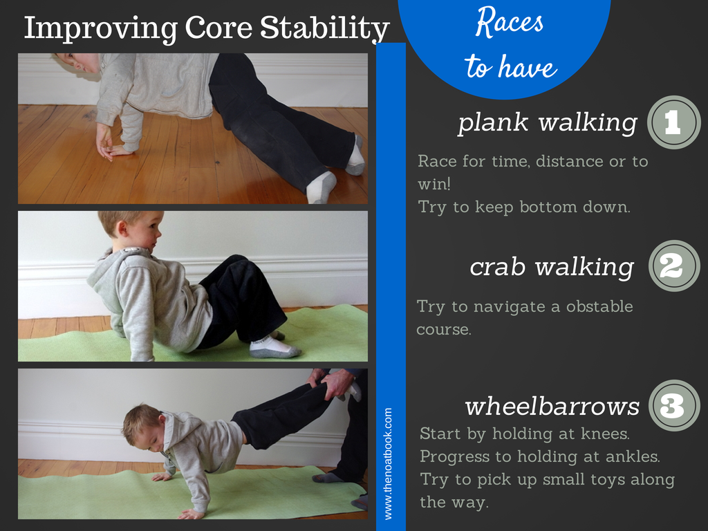Games to improve a child's core strength
