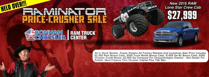 We are holding over our crushing prices during the Raminator sale