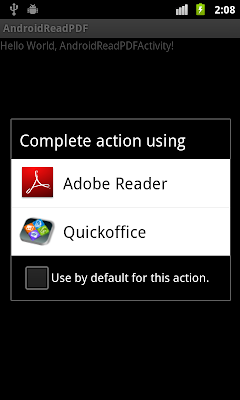 View PDF file by starting activity with intent of ACTION_VIEW