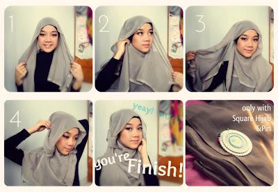 Tutorial Cara Memakai Jilbab Cantik Simpel Terbaru 2014