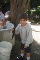 Keohi&#39;s first trout, San Gregorio CA 2011