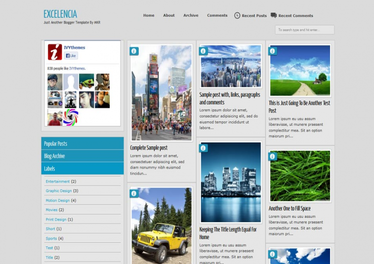 Excelencia template demo and download