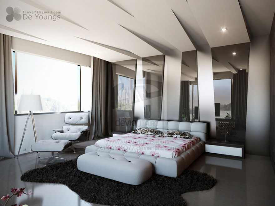 Modern pop false ceiling designs for bedroom interior 2014 for New bed design photos