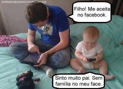 Mensagem Engraçada  para Facebook  Meu Filho Me ADD no Face